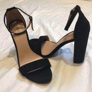 NWOT Black 4-inch black heels size 7 1/2